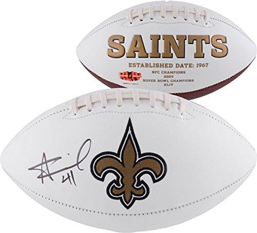 Alvin Kamara New Orleans Saints Autographed White Panel Football - Fanatics Authentic Certified - Autographed Footballs from Sports Memorabilia