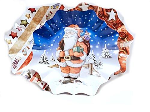 3er Set Weihnachtsteller Bunteteller in Sternform 27cm durchmesser Pappe