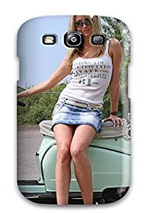 Ultra Slim Fit Hard ZippyDoritEduard Case Cover Specially Made For Galaxy S3- Girls And Motorcycles