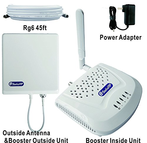 SolidRF Dual Bands 60dB 850MHz&1900MHz Cell Phone Signal Booster from SolidRF