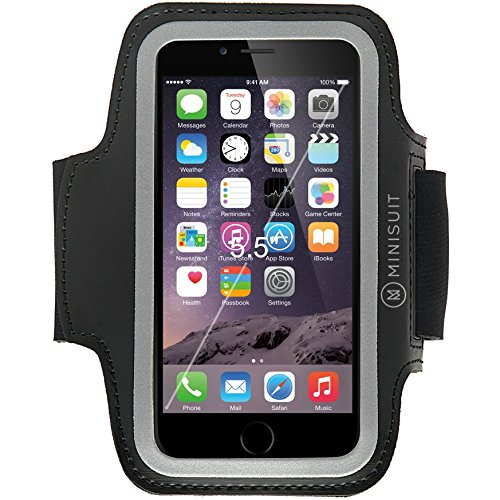 Minisuit Armband for iPhone 6 Plus 6S Note 5 4 3, Samsung Galaxy S6 Edge, S7 Edge+ LG Pro G4 G3 G2 FLEX 2 V10 Great for Sports, Exercise, Running Jogging, Workout