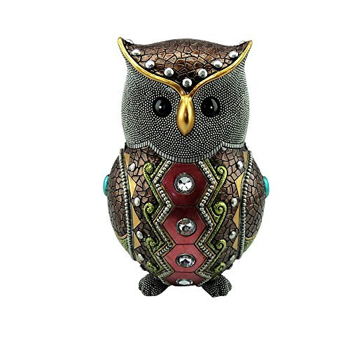 Fancy Owl Jewel Beaded Statue Art Statue Figure Figurine - Jewel Fancy