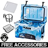 45QT CAMO OCEAN BLUE COLD BASTARD Rugged Series ICE CHEST COOLER Free Accessories YETI Quality Free S&H