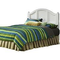 Home Styles 5543-601 Bermuda Brushed Headboard, King, White