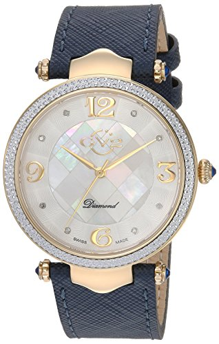 GV2-by-Gevril-Womens-Sassari-Swiss-Quartz-Stainless-Steel-and-Leather-Casual-Watch-ColorBlue-Model-1000