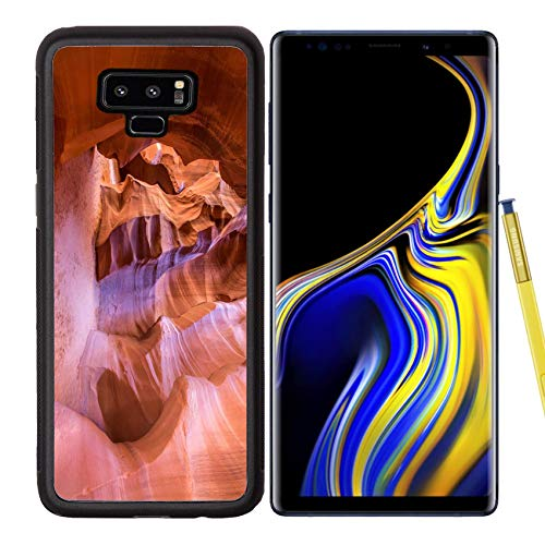 Luxlady Samsung Galaxy Note 9 Case Aluminum Backplate Bumper Snap Cases Upper Antelope Canyon Passage Image ID 25324698