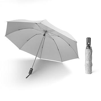 Rainkuu Mini Paraguas automatico Paraguas Plegable Reverso Maneta De Plegable del Revés Paraguas del Viaje Parasol