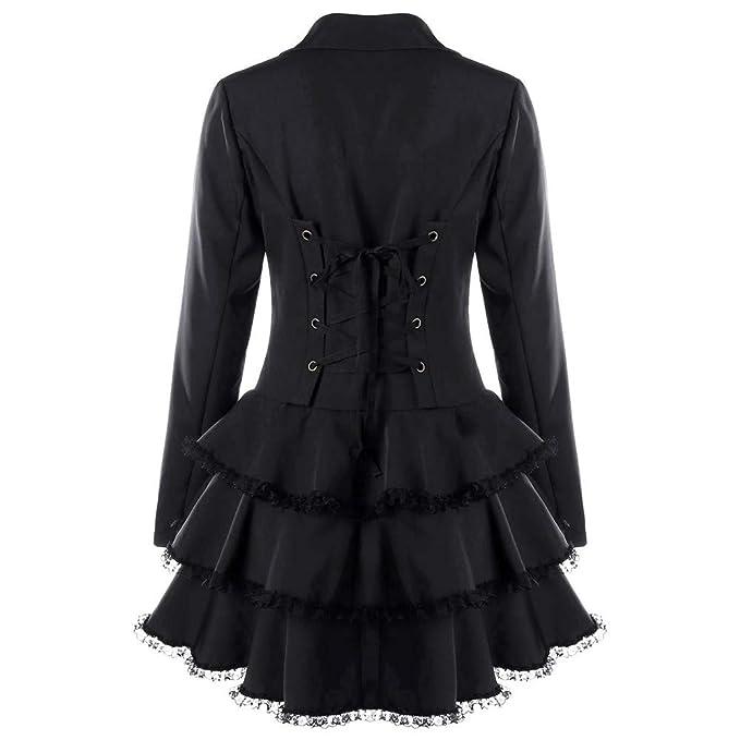 Fanxing Damen Wintermantel Langarm-Mantel Blazer Anzug Tops Schlanke Spitze  Volant Jacke mit Knöpfen  Amazon.de  Bekleidung 148e7e6656