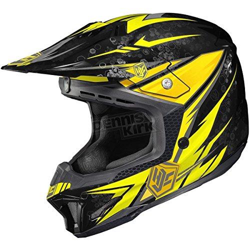 HJC Yellow/Black MC-3 CL-X7 Pop 'N Lock Helmet Large (Mc3 Motorcycle Helmet)