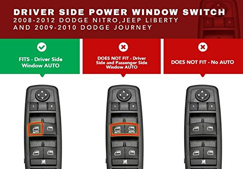 driver side master power window switch replaces part. Black Bedroom Furniture Sets. Home Design Ideas