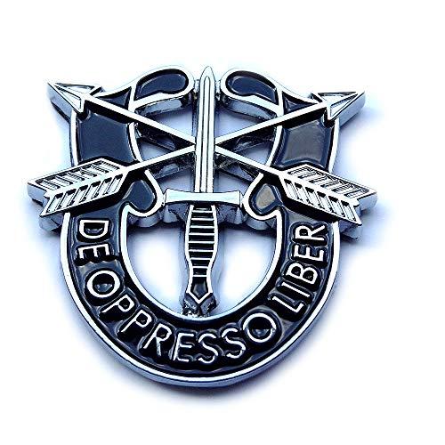 Special Forces De Oppresso Liber DUI Crest Decal Sticker Metal Chrome