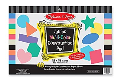 "Melissa & Doug Jumbo Multi-Color Construction Pad 12""x18"""