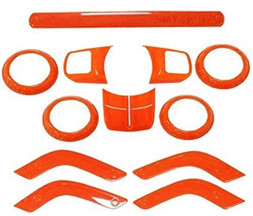 [해외]지프 랭글러 2011-2016 4 도어 용 Opall Full Set 인테리어 장식 트림 키트/Opall Full Set Interior Decoration Trim Kit For Jeep Wrangler 2011-2