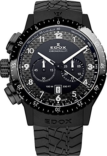 EDOX EDOX RALLY INSTRUMENTS CHRONORALLY 1 10305 37N NN - Reloj unisex, correa de goma color negro: Amazon.es: Relojes