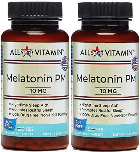 All Star Vitamin Melatonin Vegetarian Tablets