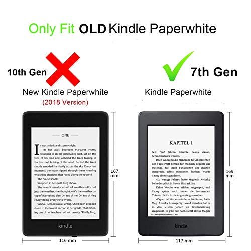 ELITE Slim Flip Cover for Amazon Kindle Paperwhite Paper White Tablet with Magnetic Lock, Auto Sleep Wake(Dark Blue)