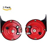 Auto Car Vehicle Horn with Bracket Universal 12V 135DB Loud Dual-tone Electric Snail Air Horn Siren for Cars Truck Motorcycle Boat (1 Pair)
