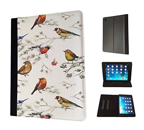 1801 - Beautiful Shabby Chic Colourful Birds Nature Wildlife Design Apple ipad Pro 9.7