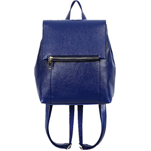 Eysee - Bolso mochila para mujer azul rojo vino 28cm*32cm*15cm azul
