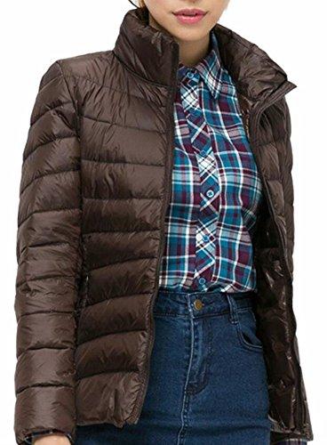 Puffer 1 Quilted Zip Outdoor Coat Year Women Down Jacket Stand Up Fly uk Collar IqOPtTwx8