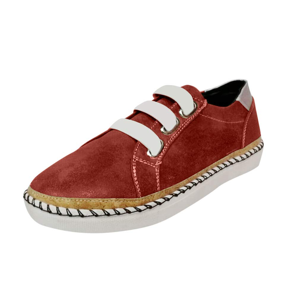 Sneakers for Women,✔ Hypothesis_X ☎ Women's Walking Sock Shoes Hollow-Out Round Toe Casual Sneakers Red