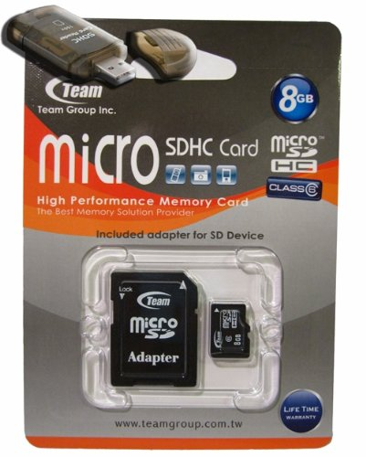 8GB Turbo Class 6 MicroSDHC Memory Card. High Speed For HTC Quickfire Smart Snap Comes with a free SD and USB Adapters. Life Time Warranty