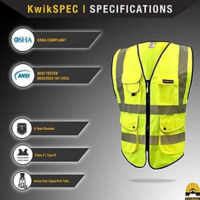 NEW CAROLINA SAFETY SPORT heavy duty HI VISE YELLOW Reflector Safey Vest 3XL