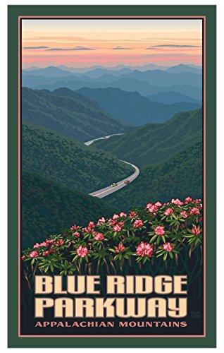 Blue Ridge Parkway Appalachian Mountains Travel Art Print Poster by Paul Leighton (12