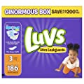 Luvs Ultra Leakguards Diapers Size 3, 186 Count