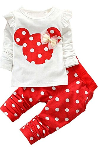 2016 Kids Clothes Girls Baby Long Sleeve Shirt Pants Outfits Clothing - Long Outerwear Sleeve Girl