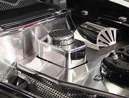 (American Car Craft Mustang Master Cylinder Cover - Polished w/Chrome Cap)