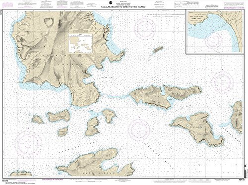 Paradise Cay Publications NOAA Chart 16478: Tagalak Island to Great Sitkin Island; Sand Bay-Northeast Cove 35.5 x 47.6 (TRADITIONAL PAPER)