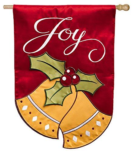 Joyful Christmas Bells Regular Applique Flag