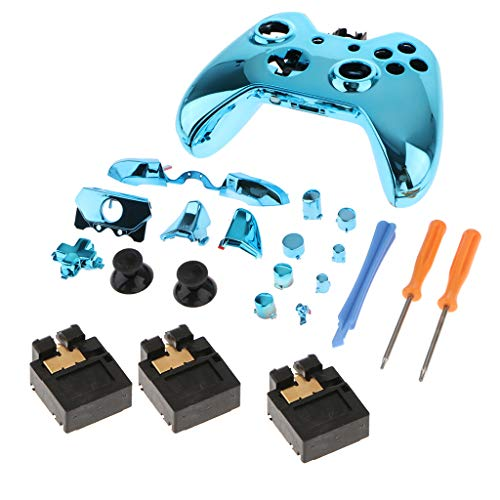 Prettyia Controller Housing Shell Case Cover Full Set Faceplates Replacement Kits with Buttons + 3.5mm Headphone Port for Microsoft Xbox One Controller