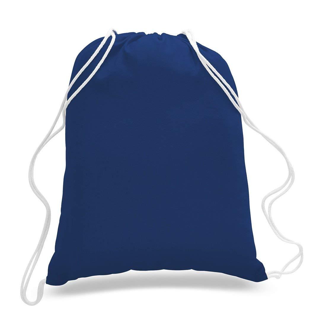 100/% Cotton Basic Promo Drawstring Bag by SHOPINUSA 12, Red