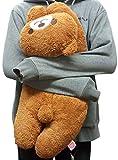 Hatayama Shoji Japanese Brown Bear Long Body Pillow or Cushion Plush