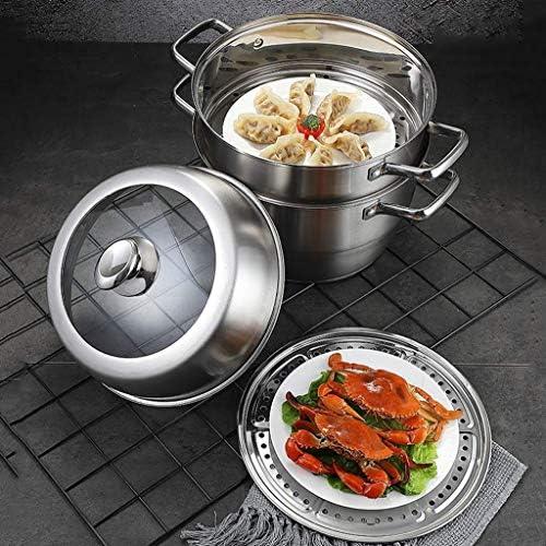 YWSZJ Trois en Acier Inoxydable 304 Steamer Couches 3 épaissie Ménage Grande Cuisinière à gaz Cuisinière à Vapeur Bun Double