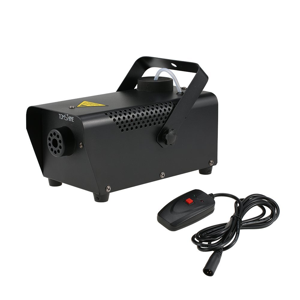 Tomshine 400W Portable Fog Machine for Halloween Party Wedding Stage Effect - Aluminum Casing - Wired Remote Control TS-1810