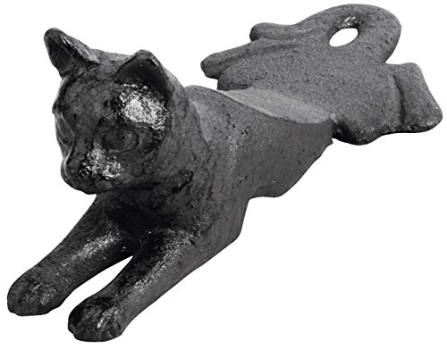 Black Cat Door Stop - Esschert Design Door Wedge Cat