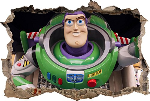 Buzz Lightyear Decor - Toy Story Buzz Lightyear 3D Smashed Wall Sticker Decal Decor Art Mural J1010, Mini