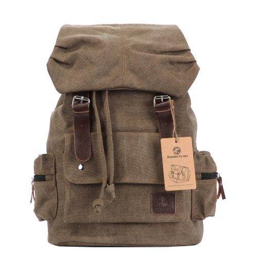 Zicac - Nuevo Moda lona Bolso mochila escolar con estilo clásico para mujer/hombre Mochila para viaje o Senderismo Mochila bolsa de ocio(Azul) (Negro)