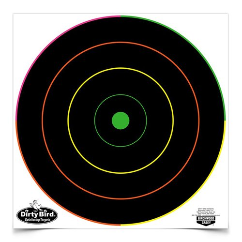 Birchwood Casey Dirty Bird Multi-Color Bull's-Eye Target (Per 100), 12-Inch ()
