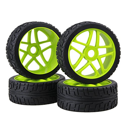 BQLZR 17mm RC 1:8 Off-road Car Hub Tires Wheel Rims For Running On The Cement Ground Pack Of 4 (Best 1 8 Buggy)