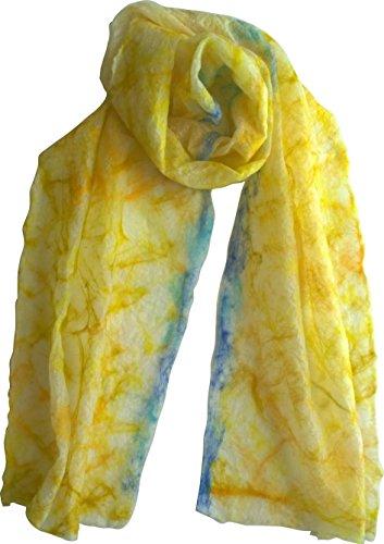 Sunshine Yellow Merino Scarf by Mimi Pinto on Amazon UK