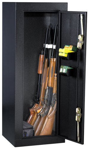 Gun Security Cabinet >> First Watch Homak 12 Gun Security Cabinet Gloss Black Hs30103630