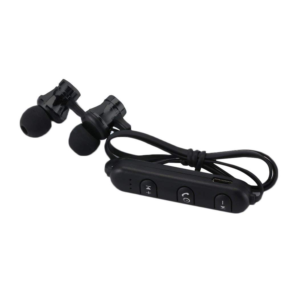 KNOSSOS Cuffie Magnetic Sports Music 4.2 Cuffie Regalo in-Ear Nere