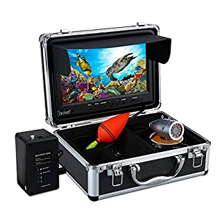Eyoyo Portable 9 inch LCD Monitor Fish Finder HD 1000TVL Fishing Camera Waterproof Underwater DVR Video Cam 50m Cable 12pcs IR Infrared LED for Ice,Sea,Lake and Boat Fishing (B077XXS5P5) | Amazon price tracker / tracking, Amazon price history charts, Amazon price watches, Amazon price drop alerts