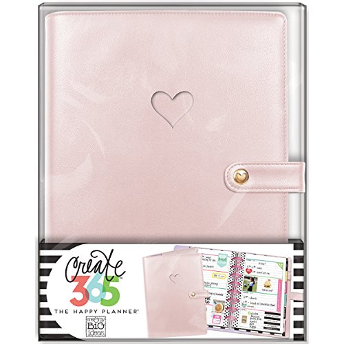 Heart Mini Roses (me & my BIG ideas  CODM-04 Create 365 The Happy Planner Mini Deluxe Cover, Rose Gold)