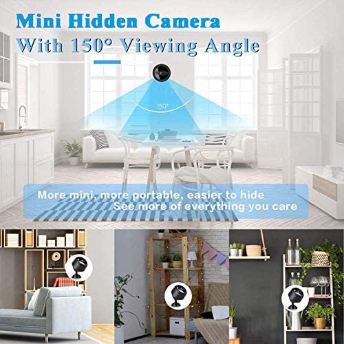 Mini Spy Camera with Audio,Wireless WiFi Hidden Mini Camera 1080P HD Home Security Cams with Cell Phone App(IOS/Android),Portable Tiny Nanny Cam with IR Night Vision,charging,for Indoor or Outdoor