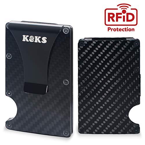 Money Clip - Carbon Fiber Card Holder - Business Card Organizer - Slim Carbon Fiber Wallet - Minimalist Wallet with Cash Clip - Anti-Scan RFID Credit Card Holder - Credit Card Case